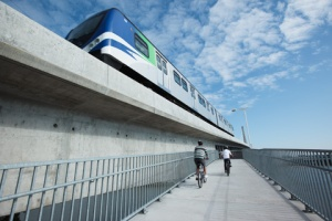 Cambie Skytrain Bike Bridge